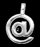 Zilveren @ At groot ketting hanger_