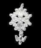 Zilveren Hugenotenkruis ketting hanger - groot_