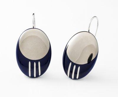 Oriënt Collectie ovaal porseleinen oorhangers