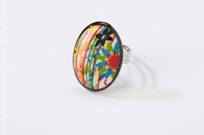 Paradiso Collectie ovaal porseleinen ring