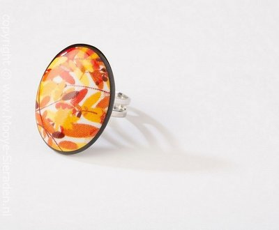 Louisiana Collectie ovaal porseleinen ring