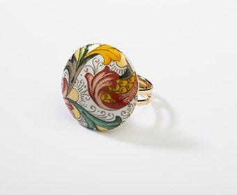 Mediaan Collectie rond porseleinen ring