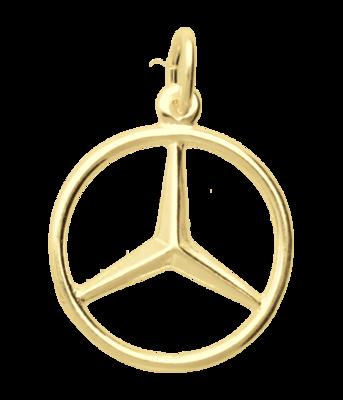 Gouden Mercedes ster ketting hanger