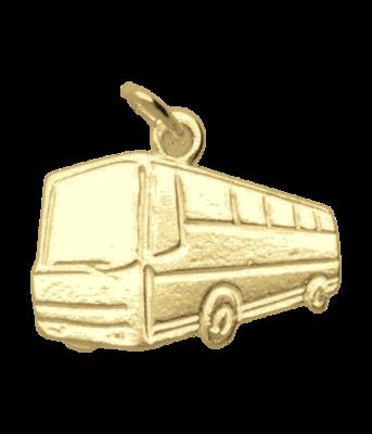 Gouden Autobus ketting hanger