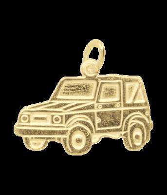 Gouden Terreinwagen ketting hanger