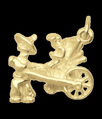 Gouden Riksja ketting hanger