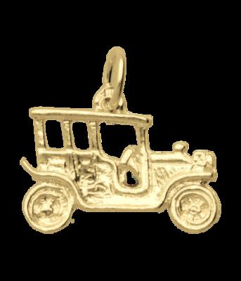Gouden Auto antiek Oldtimer 2 ketting hanger
