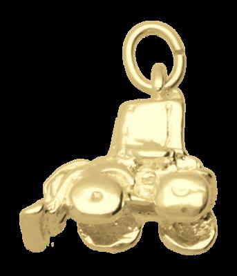 Gouden Shovel massief ketting hanger