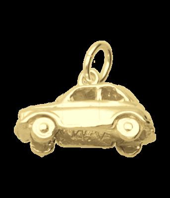 Gouden Fiat 500 ketting hanger