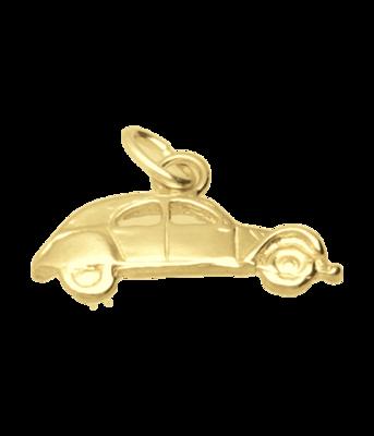 Gouden Citroën 2 CV Lelijk eend vlak ketting hanger