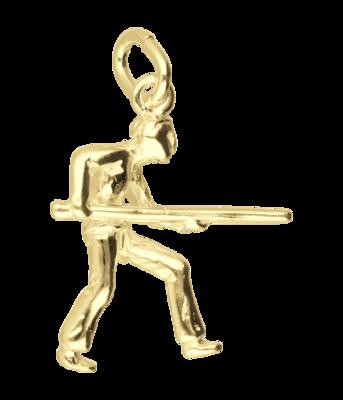 Gouden Biljarter ketting hanger