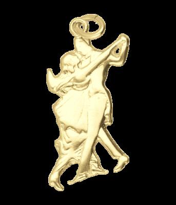 Gouden Danspaar jaren 60 ketting hanger