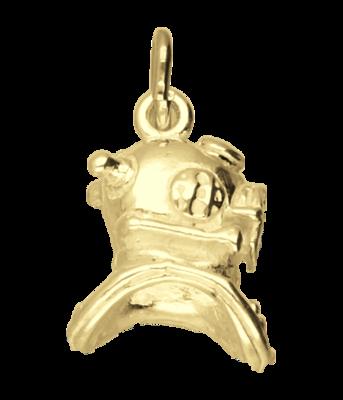 Gouden Duikhelm ketting hanger