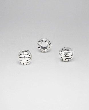 Zilveren bead - voetbal