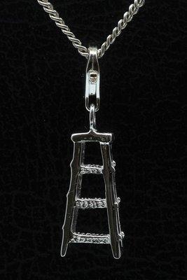 Zilveren Ladder hanger en/of bedel