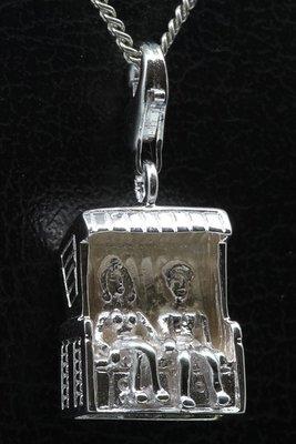 Zilveren Strandstoel - Korf 2 personen hanger en/of bedel