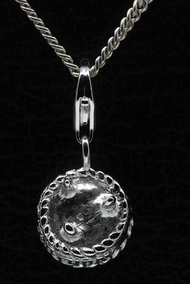 Zilveren Verjaardagstaart hanger en/of bedel