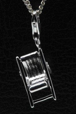 Zilveren Ligstoel hanger en/of bedel