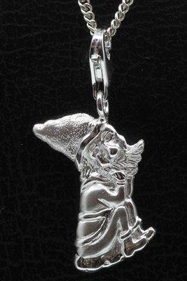 Zilveren Kabouter puntmuts hanger en/of bedel