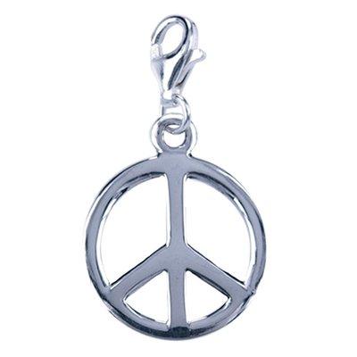 Zilveren Vredesteken hanger en/of bedel