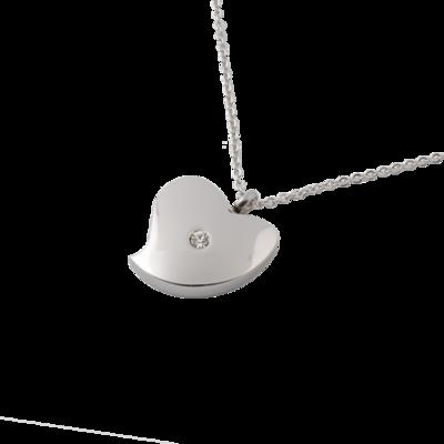 RVS assieraad Hart zirkonia design herdenkings hanger