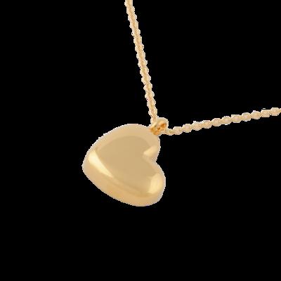 RVS assieraad Hart van goud design herdenkings hanger