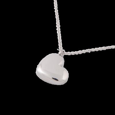 RVS assieraad Hart van zilver design herdenkings hanger