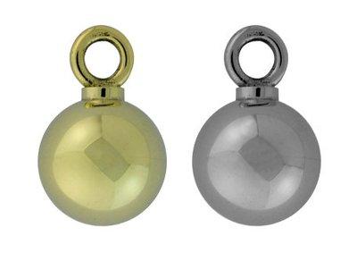 Zilveren ronde bal ashanger