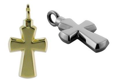 Zilveren kruis fantasie ashanger