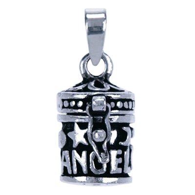 Zilveren Gedenksieraad tekst angel ketting hanger