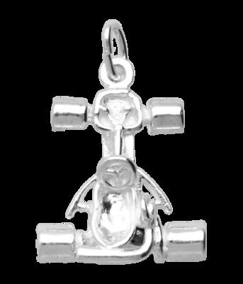 Zilveren Kartauto kettinghanger