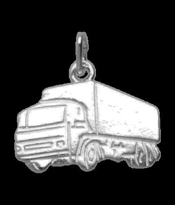 Zilveren Vrachtwagen ketting hanger