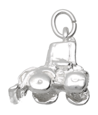 Zilveren Shovel ketting hanger - massief