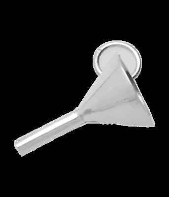 Zilveren Olie trechter ketting hanger