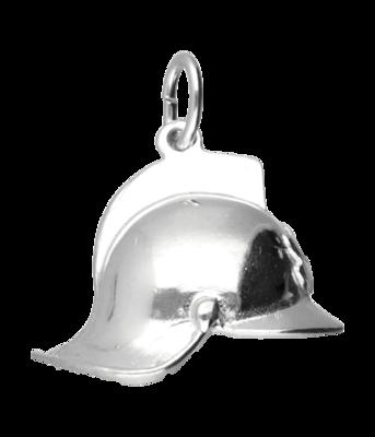 Zilveren Brandweerhelm hanger