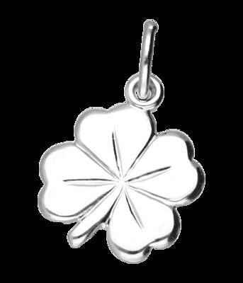 Zilveren Klaverblad ketting hanger