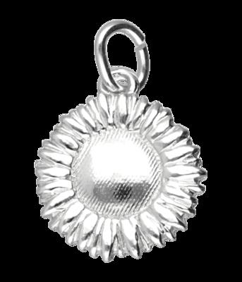 Zilveren Zonnebloem ketting hanger