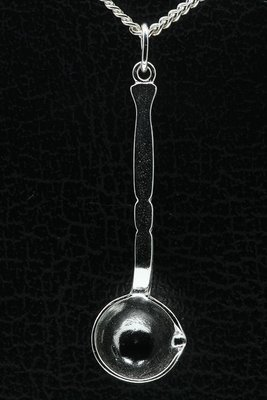 Zilveren Soeplepel ketting hanger