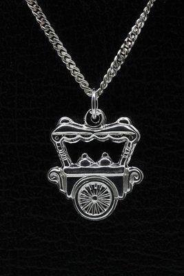 Zilveren IJscowagen ketting hanger
