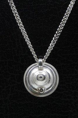Zilveren Fluitketel ketting hanger