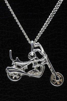 Zilveren Motor ketting hanger - easy rider 2