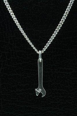 Zilveren Bahco ketting hanger - klein