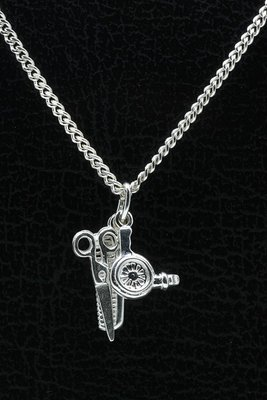 Zilveren Kapper set ketting hanger