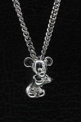 Zilveren Tekenfilm muis 3D ketting hanger