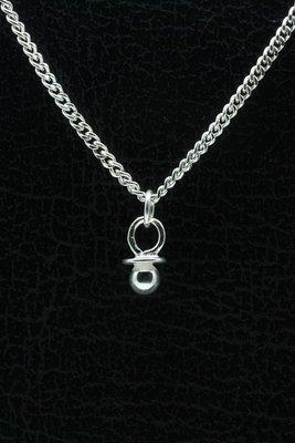 Zilveren Speen ketting hanger - 1