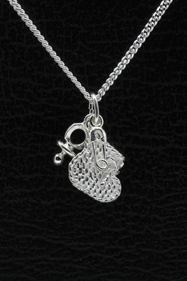 Zilveren Babysetje ketting hanger