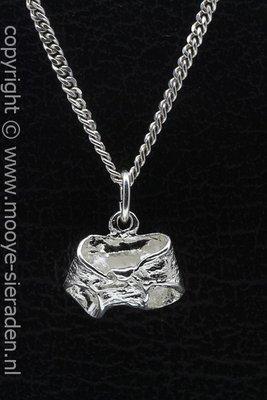 Zilveren Luierbroek ketting hanger