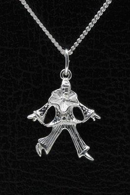 Zilveren Pierrot ketting hanger