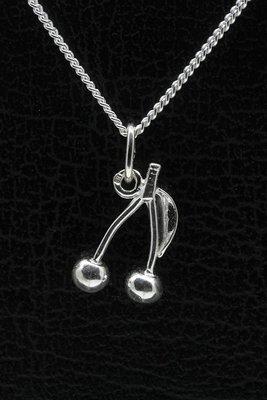Zilveren Kers ketting hanger