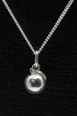 Zilveren Perzik ketting hanger
